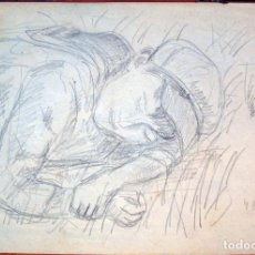 Arte: HENRI BOULAGE PINTOR POST IMPRESIONISTA MONMARTRE PARIS FRANCE FRANCIA LAPIZ. Lote 85458212