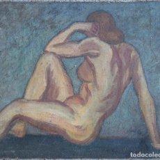 Arte: HENRI BOULAGE PINTOR POST IMPRESIONISTA MONMARTRE PARIS FRANCE FRANCIA OLEO DESNUDO. Lote 85460120