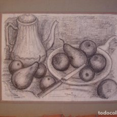 Arte: HENRI BOULAGE PINTOR POST IMPRESIONISTA MONMARTRE PARIS FRANCE FRANCIA LAPIZ . Lote 85460664