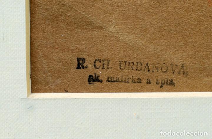 Arte: Dibujo sanguina desnudos femeninos sello R. CH. URBANOVA escritor ruso años 30 - Foto 4 - 86083544