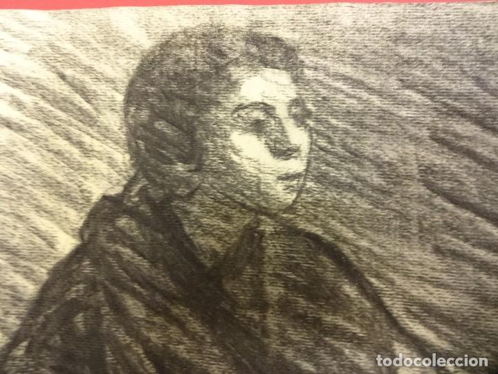 Arte: Joan CARDELLA Crusells. GITANA. Retrato original al carbon. Firmada y fechada en 1959. 50 x 34 ctms. - Foto 2 - 86215168