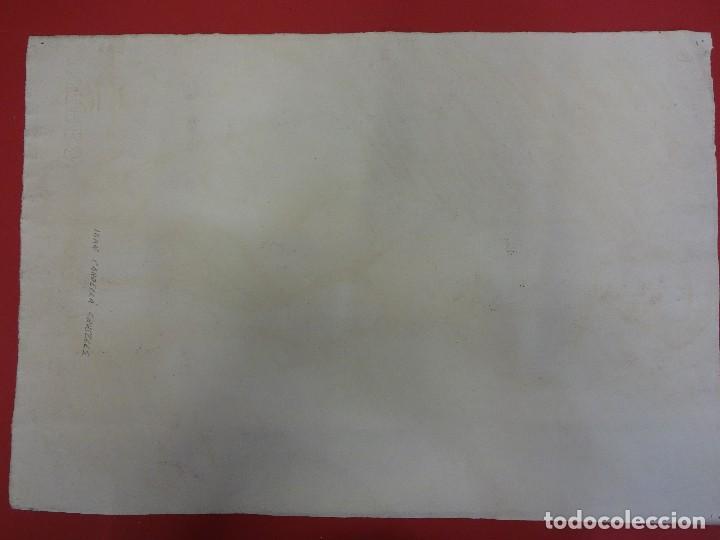 Arte: Joan CARDELLA Crusells. GITANA. Retrato original al carbon. Firmada y fechada en 1959. 50 x 34 ctms. - Foto 5 - 86215168