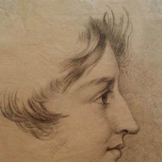 Arte: DIBUJO: RETRATO DE UNA MUJER, FIRMADO Y FECHADO , 1832. Lote 86227940