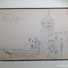 Arte: HERNANI (GUIPÚZCOA) .PLAZA DE LA IGLESIA. IGNACIO ZULOAGA. Lote 38782906
