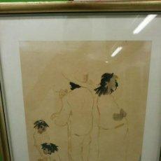 Arte: PERSONAJES - MANUEL GARBAYO (1911 - 1983) - TINTA Y AGUADA SOBRE PAPEL.. Lote 86670420
