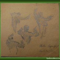 Arte: RIBAS RIUS. DIBUJOS A DOBLE CARA. EUGENE BIGOT DIRECTOR DEL WERTHE EN EL G. T. DEL LICEO 25 X 26 CM. Lote 86767980