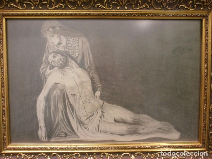 NUESTRA SEÑORA DE LA PIEDAD DE MÁLAGA O DEL MOLINILLO - F. PALMA GARCIA - DIBUJO A LÁPIZ (Arte - Dibujos - Modernos siglo XIX)