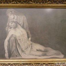 Arte: NUESTRA SEÑORA DE LA PIEDAD DE MÁLAGA O DEL MOLINILLO - F. PALMA GARCIA - DIBUJO A LÁPIZ. Lote 86865428