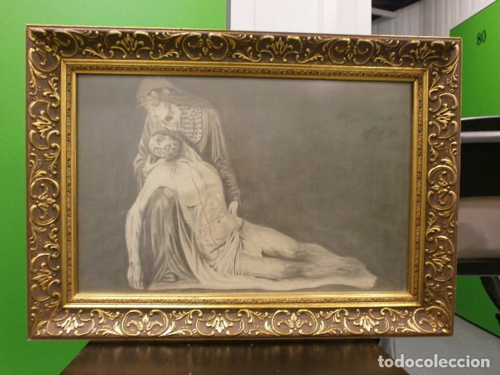 Arte: NUESTRA SEÑORA DE LA PIEDAD DE MÁLAGA O DEL MOLINILLO - F. PALMA GARCIA - DIBUJO A LÁPIZ - Foto 3 - 86865428