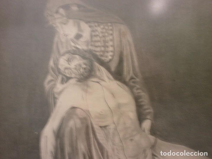 Arte: NUESTRA SEÑORA DE LA PIEDAD DE MÁLAGA O DEL MOLINILLO - F. PALMA GARCIA - DIBUJO A LÁPIZ - Foto 4 - 86865428