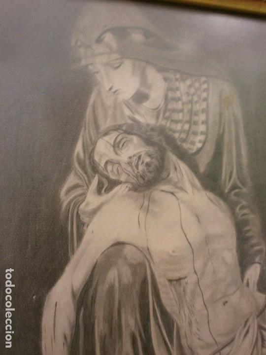 Arte: NUESTRA SEÑORA DE LA PIEDAD DE MÁLAGA O DEL MOLINILLO - F. PALMA GARCIA - DIBUJO A LÁPIZ - Foto 5 - 86865428