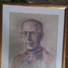 Arte: ADOLFO FERRER AMBLAR (VALENCIA,1906-1993). RETRATO DEL ARZOBISPO DE VALENCIA, FDO,TITULADO Y FECHADO. Lote 87008328
