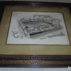 Arte: (M) BADALONA / ALEXANDRE CARDUNETS CAZORLA - 1871-1944 ANTIGUO DIBUJO ORIGINAL A PLUMA - VISTA. Lote 87210644