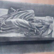 Arte: DIBUJO CARBONCILLO ABSTRACTO MUERTE RECOSTADA - FIRRMADO F HUTADO - FEBRERO 1961- VER FOTOS -47X64. Lote 87265228
