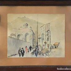 Arte: BARCELONA. DIBUJO. TINTA Y PASTEL. CARME PERAN. ESPAÑA. 1935.. Lote 87416404