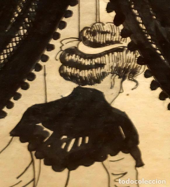 Arte: RICARDO OPISSO I SALA (TARRAGONA, 1880 - BCN, 1966) DIBUJO A TINTA DE TEMA HUMORISTICO - Foto 7 - 220103791