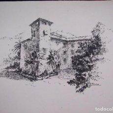 Arte: Mª ANTONIA AGUILO FIRMA TONINA - TINTA SOBRE CARTULINA - A3 CASA SEÑORIAL MALLORCA CIRCA 1970. Lote 87517368