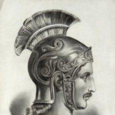 Arte: AGUSTÍN BUADES, DIBUJO AL CARBONCILLO Y TIZA. CENTURIÓN 1868. CERTIFICADO. Lote 87689152