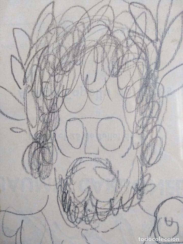 JAUME CARBONELL. AUTORRETRATO. LÁPIZ SOBRE PAPEL. FIRMADO (Arte - Dibujos - Contemporáneos siglo XX)