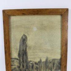 Arte: B- 529. DIBUJO EN CARBONCILLO SOBRE PAPEL. FIRMADO. SXX.. Lote 88506332