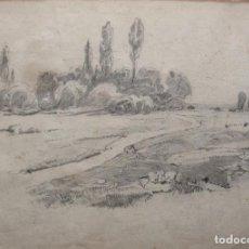Arte: DIBUJO AL CARBONCILLO SOBRE PAPEL 44 X 31 CM. FIRMADO, Y FECHADO ILEGIBLE. CON MARCO Y CRISTAL.. Lote 88513156