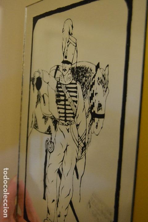 TINTA SOBRE ESPEJO S. XIX (Arte - Dibujos - Modernos siglo XIX)