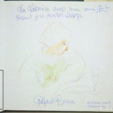 Arte: DIBUJO DEDICADO POR RAFAEL GRIERA, AÑO 1986 - LIBRO GRIERA. A. MARTÍNEZ CEREZO - AÑO 1977. Lote 89066056