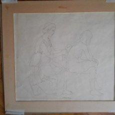 Arte: ENVÍO GRATIS. DIBUJO ORIGINAL DE ALBERTO DUCE, ZARAGOZA. MUJERES DESNUDAS.. Lote 89312968