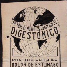 Arte: PROPAGANDA DIBUJO ORIGINAL, DIGES TONICO, PEREZ MARTIN.. Lote 89351572