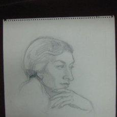 Arte: DIBUJO A LAPIZ CON DEDICATORIA DE PURA VILELLA. INTEGRANTE DEL GRUPO LA BUHARDILLA 54 .. Lote 89561936