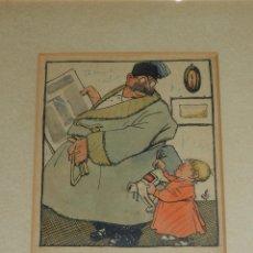 Arte: (M) DIBUJO ORIGINAL DE CORNET , PUBLICADO EN EL PATUFET , EL DIBUJO A COLOR MIDE 18 X 13'5 CM. Lote 89588756