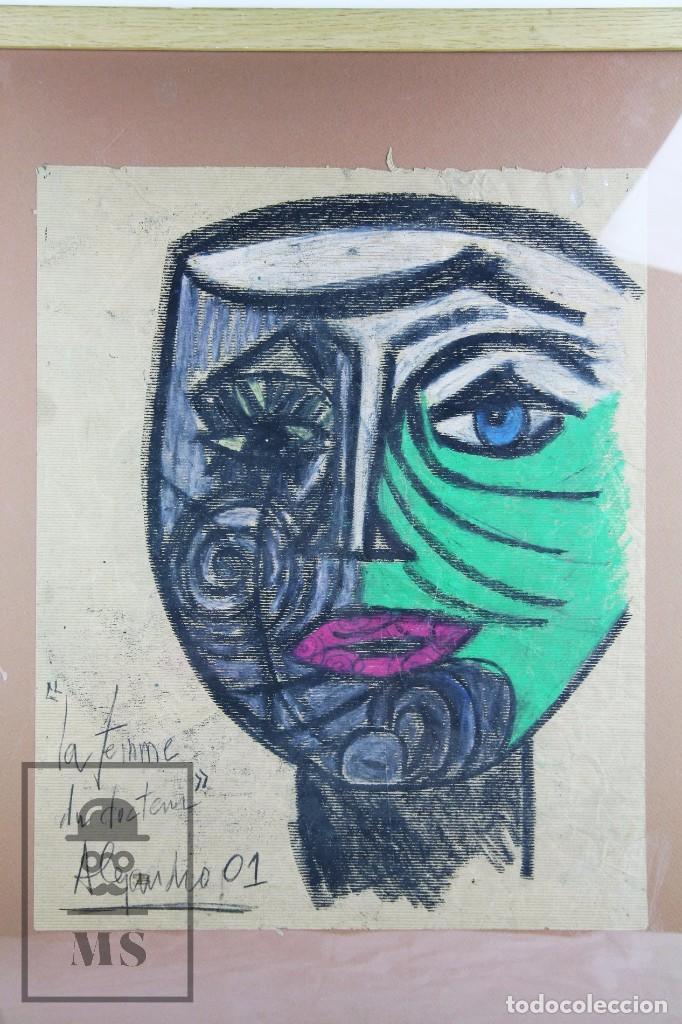 Arte: Dibujo con Ceras / Lápices de Colores Sobre Papel Kraft - La Femme du Docteur - Alejandro, 2001 / 01 - Foto 2 - 90334232