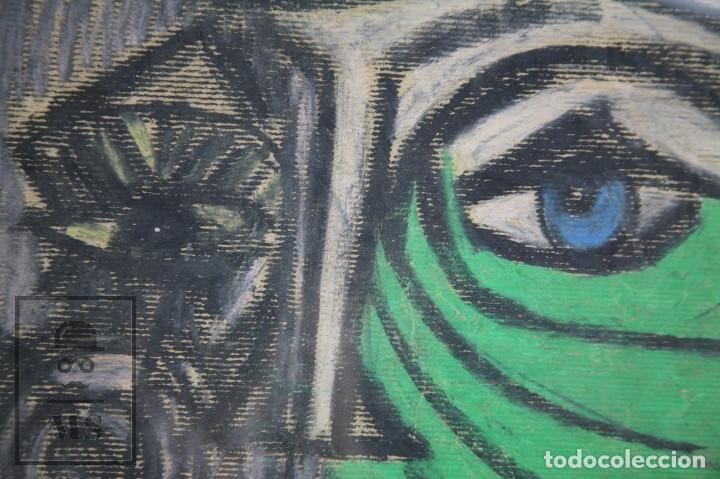 Arte: Dibujo con Ceras / Lápices de Colores Sobre Papel Kraft - La Femme du Docteur - Alejandro, 2001 / 01 - Foto 4 - 90334232