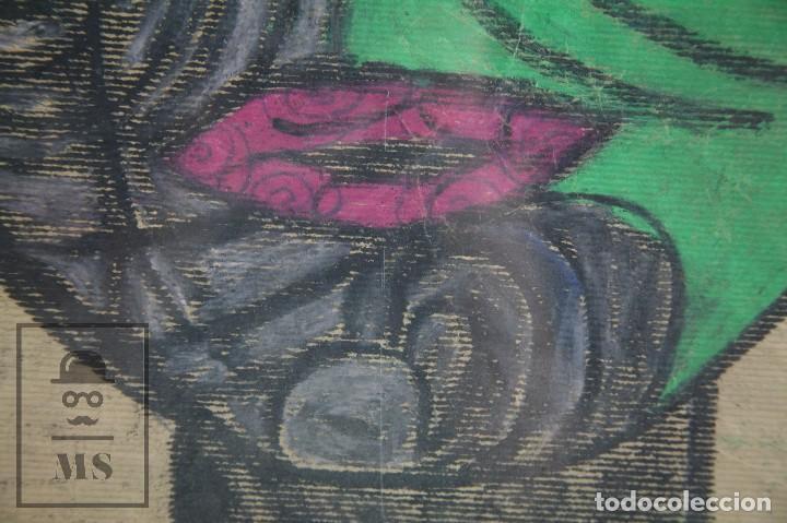 Arte: Dibujo con Ceras / Lápices de Colores Sobre Papel Kraft - La Femme du Docteur - Alejandro, 2001 / 01 - Foto 5 - 90334232