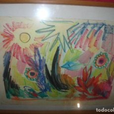 Arte: ANTIGUO CUADRO DIBUJO ANTIGUO ABASTRACTO TITULADO SOL Y MAR ALICANTE. Lote 90418144
