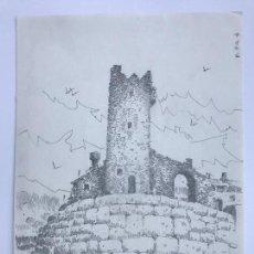 Arte: DIBUJO A LÁPIZ DE JOSÉ DUARTE, CAL PATXOCA CASTELLDEFELS. . Lote 91013205