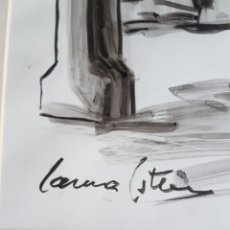 Arte: DIBUJO LAURA ESTEVE PINTURA VASCA. Lote 91573419