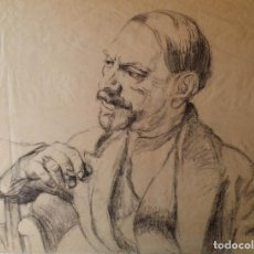 Arte: MAURICE BOUDOT-LAMOTTE (1878-1958), DIBUJO RETRATO DE PAUL VALERY. Lote 91655230