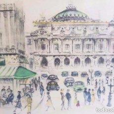 Arte: DIBUJO ORIGINAL A LAPIZ DE JAMI COTTE. DIBUJO A LÁPIZ Y CERA, PARÍS 1900, OPERA Y VIDA. Lote 93264895