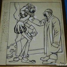Arte: (M) DIBUJO DE FELIU ELIAS I BRACONS ( APA ) DIBUJO ORIGINAL , DON QUIJOTE DE LA MANCHA. Lote 93378330