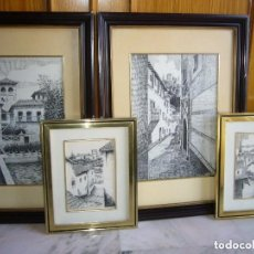 Arte: J. ORTEGA, LOTE DE 4 CUADROS. Lote 93526990