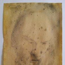 Arte: MARAVILLOSO OLD MASTER DRAWING, POSIBLEMETE RETRARTO DEL APOSTOL SAN PEDRO, PAPEL VERJURADO. Lote 93852560