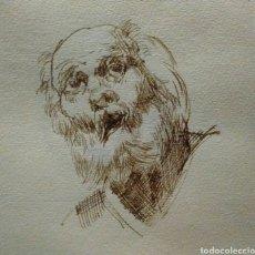 Arte: DIBUJO A PLUMA. CABEZA DE ANCIANO. Lote 93948713
