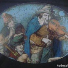 Arte: LIBRERIA GHOTICA. RARO DIBUJO CON ACUARELA DE ALREDEDOR DEL 1800. MARCO DE GRAN FACTURA S. XIX.. Lote 94116510
