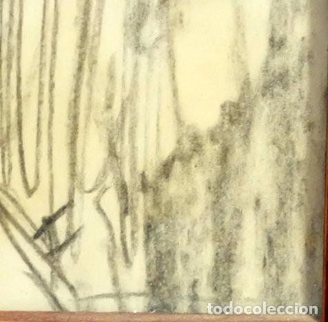 Arte: FRANCESC GIMENO ARASA (TORTOSA, 1858 - BARCELONA, 1927) DIBUJO A CARBÓN. PERFIL FEMENINO - Foto 5 - 94221090