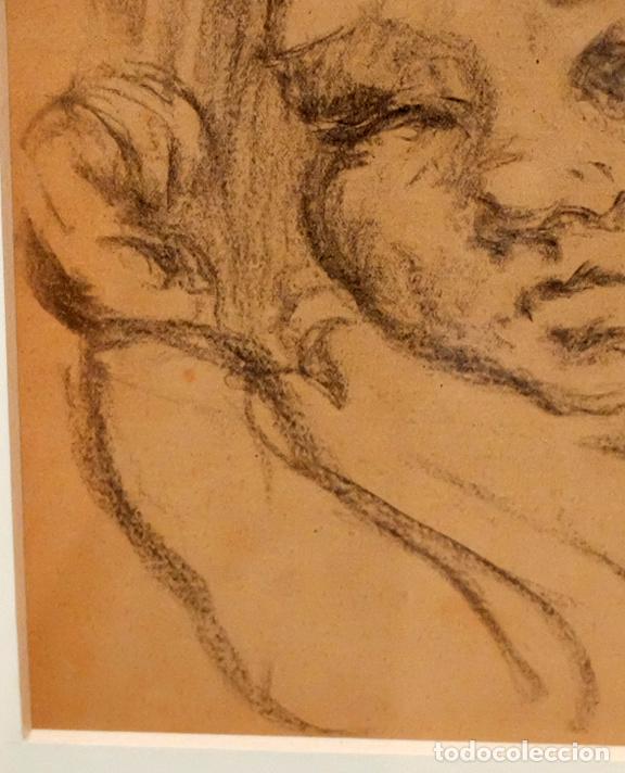 Arte: FRANCESC GIMENO ARASA (TORTOSA, 1858 - BARCELONA, 1927) DIBUJO A CARBÓN. EL HIJO DEL ARTISTA - Foto 4 - 94222810