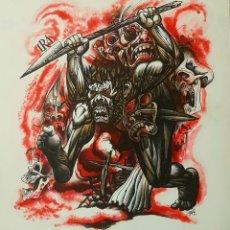 Arte: LORENZO GOÑI, EXTRAORDINARIO DIBUJO ORIGINAL IRA (PECADOS CAPITALES), FIRMADO.. Lote 94340094