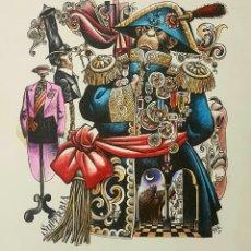 Arte: LORENZO GOÑI, ESPECTACULAR DIBUJO ORIGINAL - SOBERBIA, DE LOS PECADOS CAPITALES.. Lote 94340187