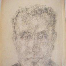 Arte: DIBUJO A LAPIZ DE UN ROSTRO, RETRATO - FIRMADO VALLS LLOPART 1939 . Lote 94520258