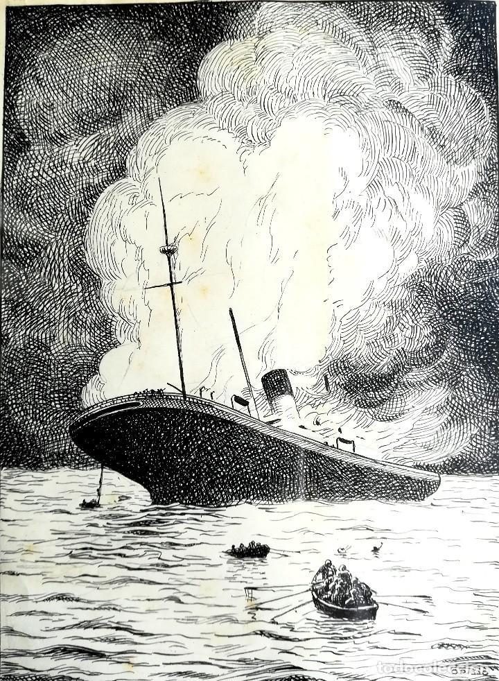 Dibujo Originalhundimiento Del Titanicaños 30 Verkauft In